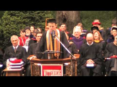 Wittenberg University 2013 Commencement  - Aaron N. Long, President of the Class of 2013