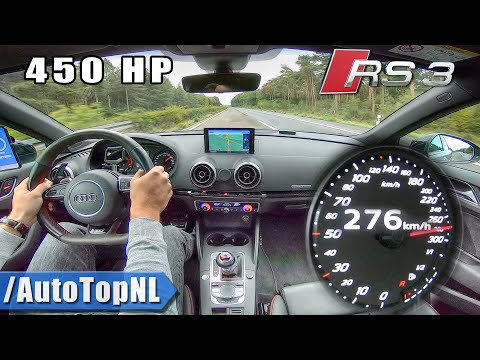 AUDI RS3 8V 450HP TOP SPEED on AUTOBAHN (NO SPEED LIMIT) by AutoTopNL