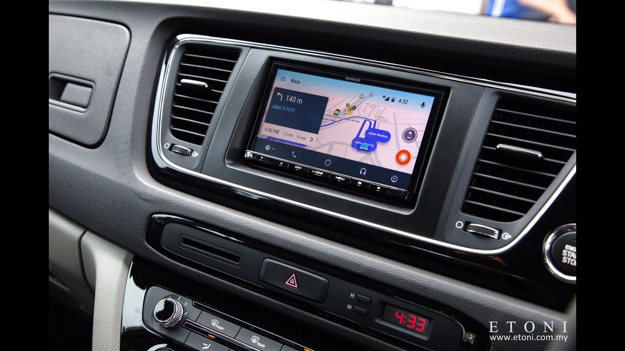 Waze In Android Auto Kenwood Kia Grand Carnival Malaysia Youtube