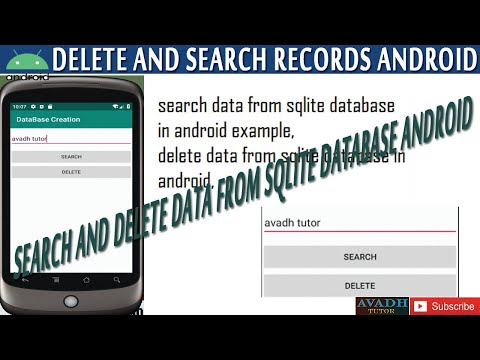 Search And Delete Data From Sqlite Database In Android Studio Example  | Android Sqlite Tutorial