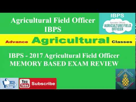 EXPECTED CUTOFF AND SOLUTIONS, IBPS 2017 Agricultural Field Officer