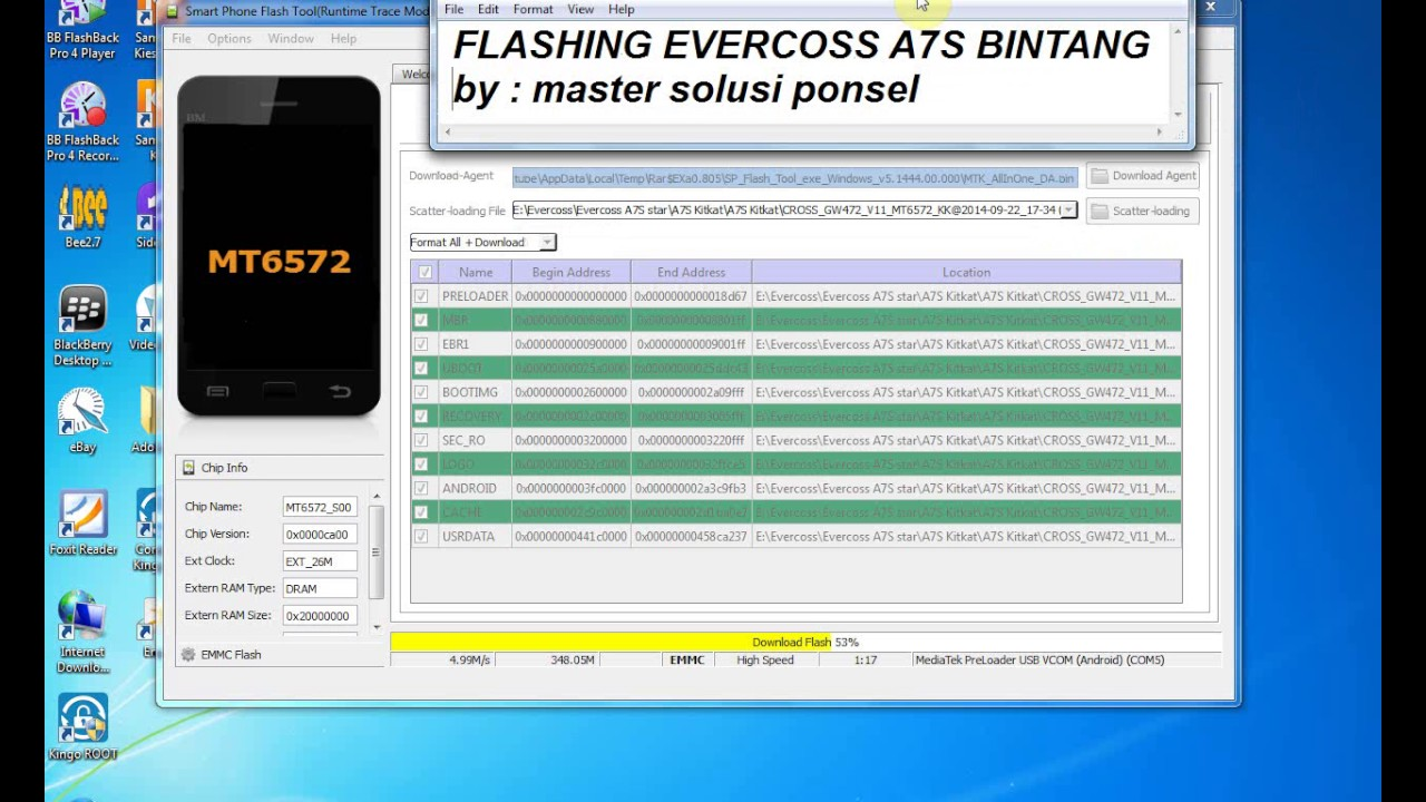 Flashing Evercoss A7S Bintang