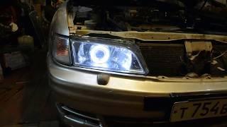 Установка электрокорректора фар Nissan Maxima- Часть 2 Сборка фар