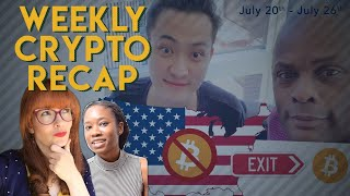 This Week in Crypto! US crypto crackdown, Justin Sun Lunch, Bakkt test launch, & more!