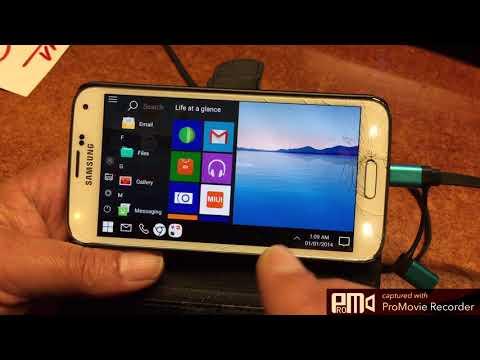Windows-Mobile 10 MOD for Samsung S4 S5 & S6 - ChromeCast WideScreen 16:9 Friendly   - 2017