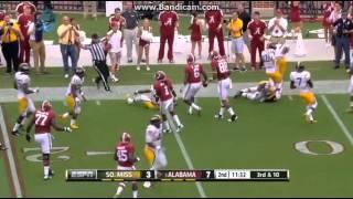 College Football Southern Miss Golden Eagles Vs The Alabama Crimson Tide