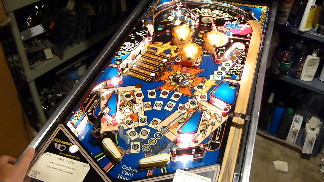 Kings of Steel (Dr  Dave's Pinball) For Sale