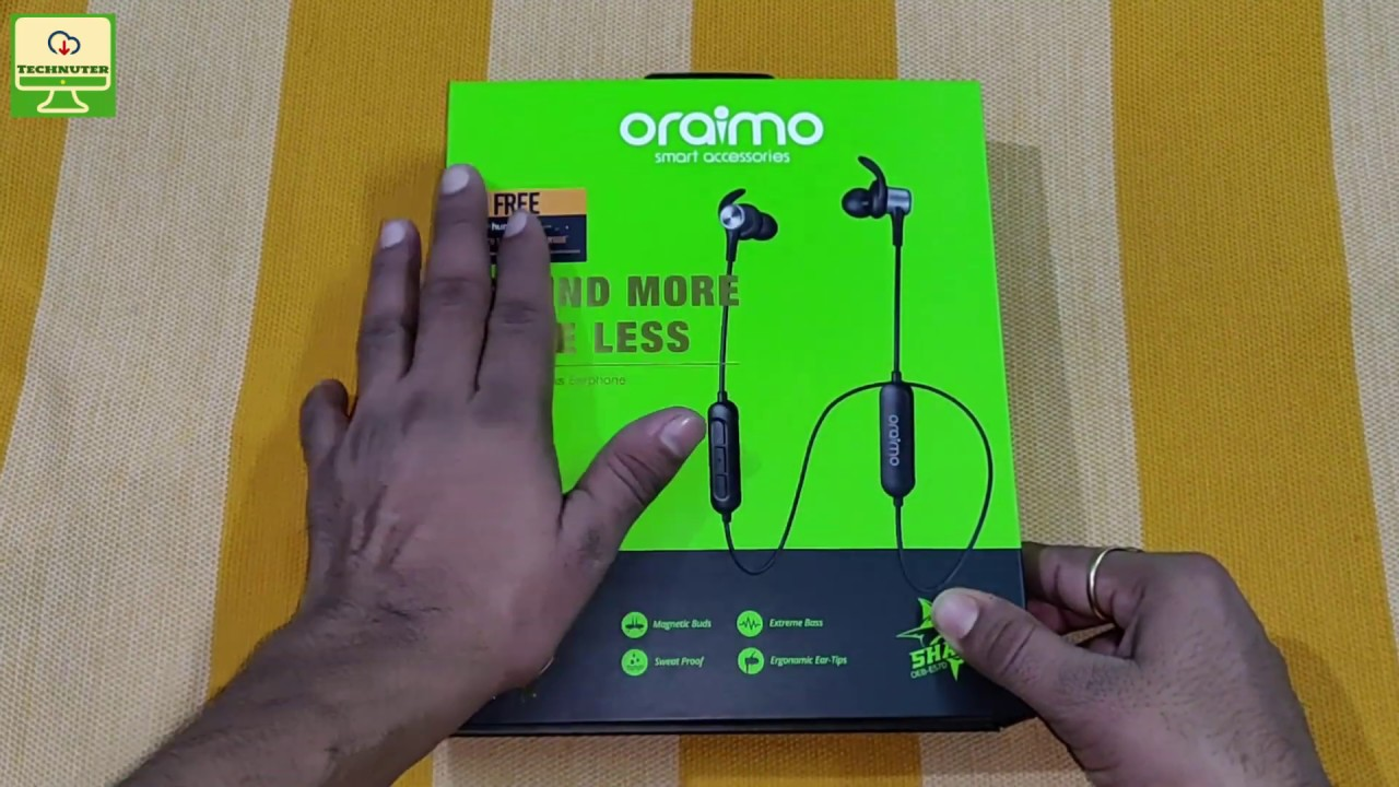 50dc93a5888 Oraimo Shark OEB-E57D Bluetooth earphone Unboxing And Review [Hindi ...