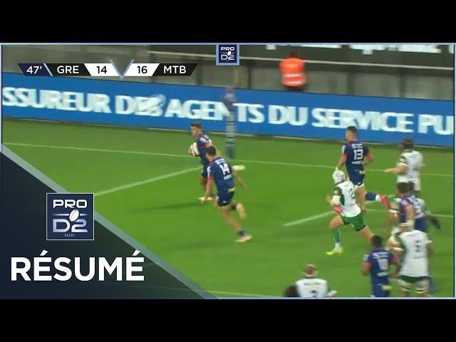 PRO D2 - Résumé FC Grenoble Rugby-US Montauban: 28-28 - J3 - Saison 2020/2021