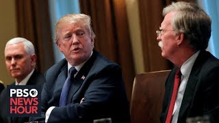 The fundamental policy disagreements that pushed John Bolton away from Trump