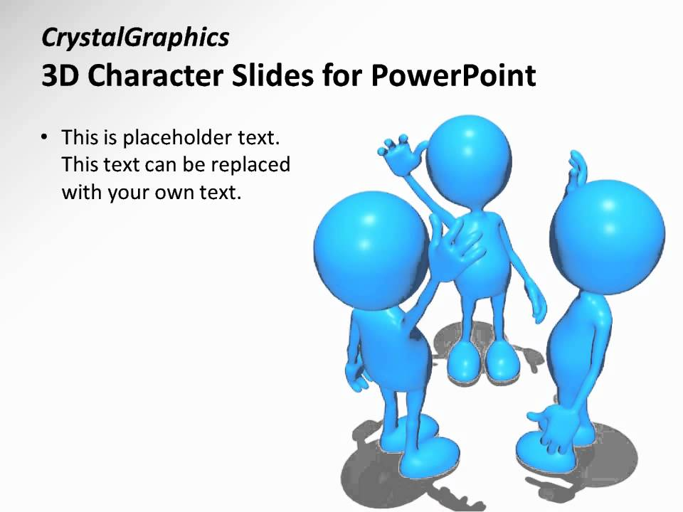 CrystalGraphics 3D Character Slides for PowerPoint - Teamwork ...