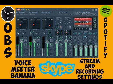Voice Meeter Banana OBS Studio Stream, Recording, Music, And Communications