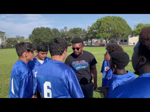 De Anza middle school first flag football game of 2021