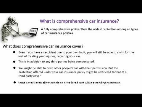 Define Comprehensive Car Insurance Explained Youtube