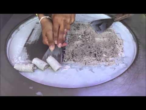 Thanh niên làm kem cuộn Thái Lan gây sốt