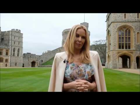 Kylie Minogue In the Quadrangle at Windsor Castle