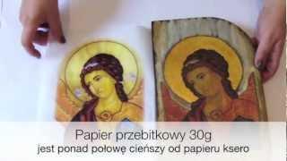 Decoupage krok po kroku - materiały - papier przebitkowy thumbnail