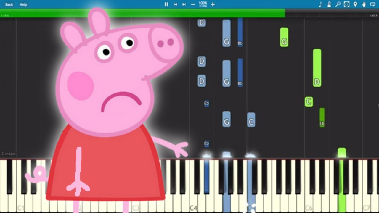 Peppa Pig Theme Song Sounds Totally Different As A Sad Piano Cover