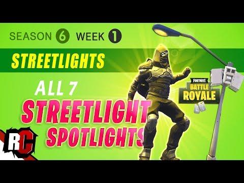 Fortnite WEEK 1 Dance Under Streetlight Spotlights (Season 6 Challenge | All Streetlight Locations)
