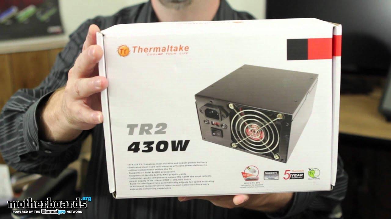 Sub $50 Budget PSU: Thermaltake TR2 430W (W0070RUC) Overview - YouTube