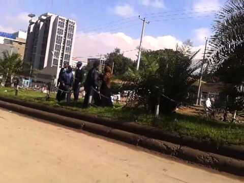 Eid protesters being beaten in Addis Ababa