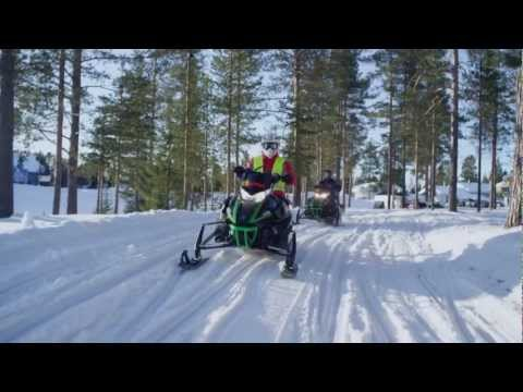 Snowmobiling In Levi, Finnish Lapland - Discover Lapland In Finland With A Snowmobile