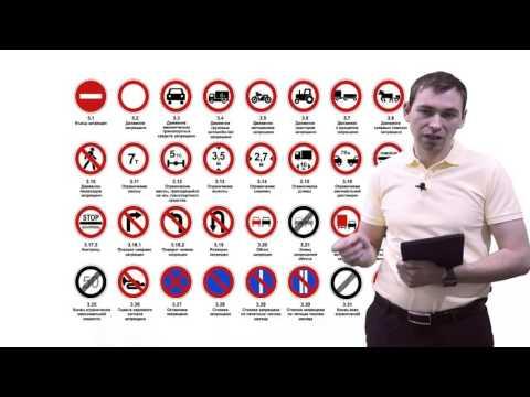 ПДД 2017. Дорожные знаки : Предупреждающие, Приоритета, Запрещаюшие