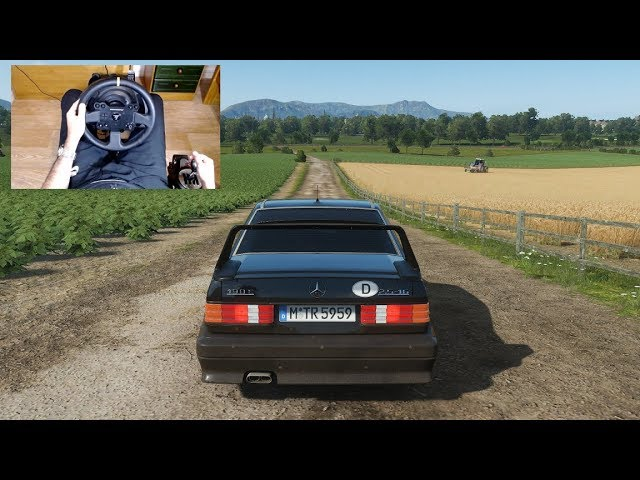 Forza Horizon 4 - MERCEDES 190E 2.5-16 EVO - Test Drive with THRUSTMASTER TX + TH8A - 1080p60FPS