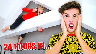 HIDING in MORGZ HOUSE for 24 HOURS... (Challenge)