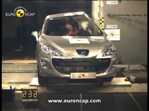 Euro NCAP | Peugeot 308 | 2007 | Crash test - YouTube
