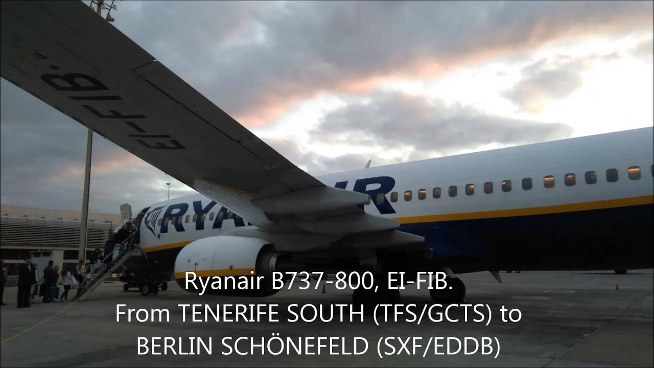Ryanair flight from Tenerife South to Berlin Schönefeld ...