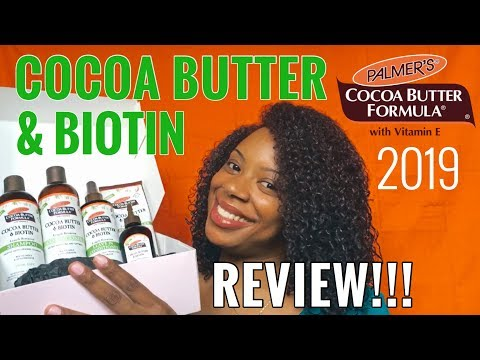 PALMER'S COCOA BUTTER FORMULA   COCOA BUTTER AND BIOTIN COLLECTION! (REVIEW) AUGUST 2019 CURLBOX