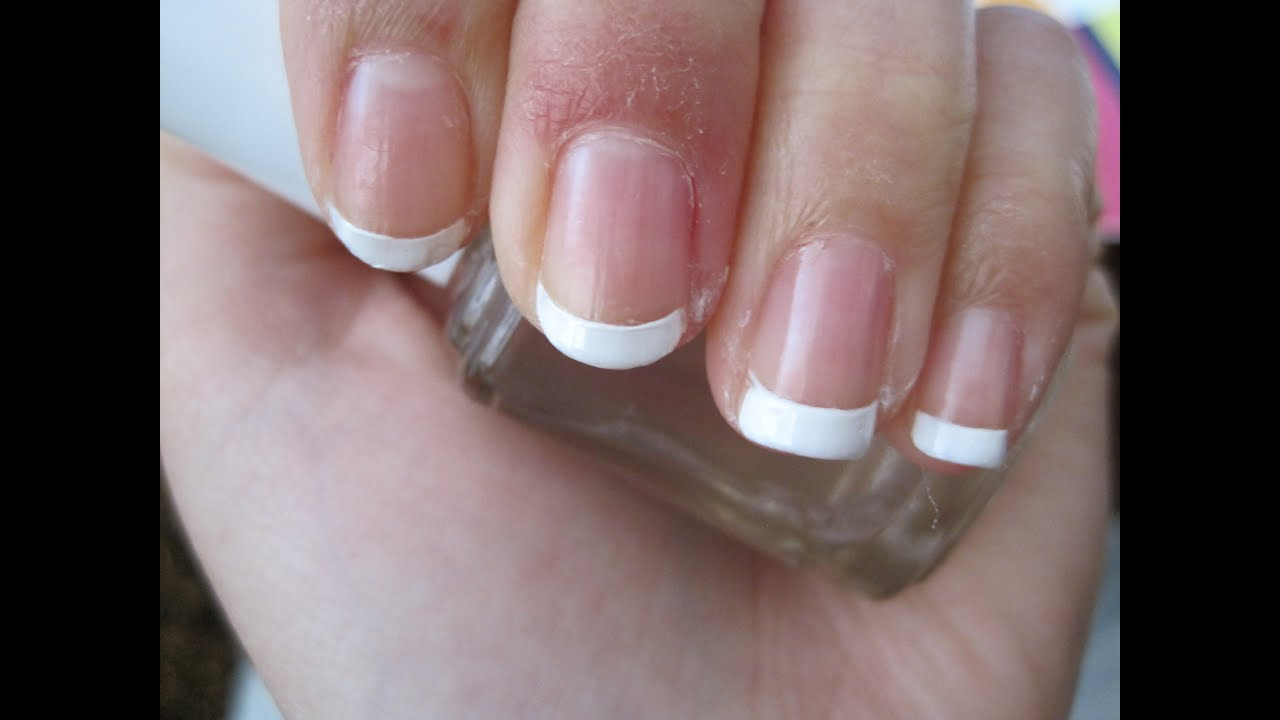 Simple and Easy French Manicure Tutorial - YouTube