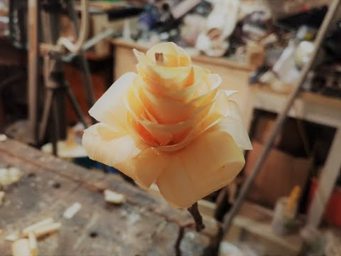 Wooden rose for my valentine