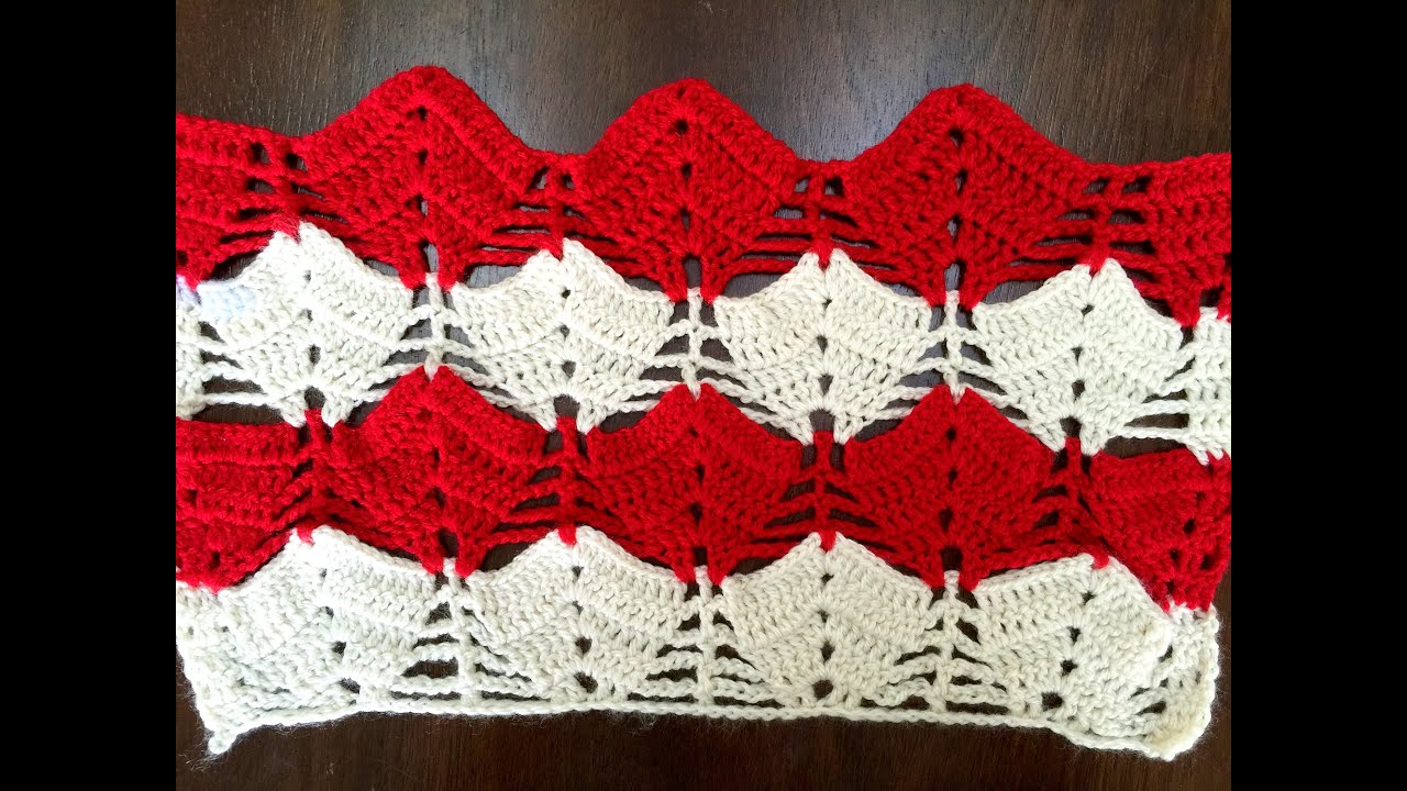 Crochet pattern - interesting umbrella crochet stitch - YouTube