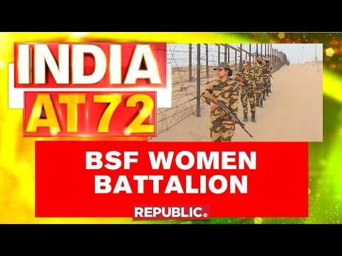 BSF Mahila Battalion Mark Republic Day Guarding Border At Jaisalmer thumbnail
