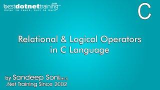 Relational and Logical Operators in C Language - C language Training