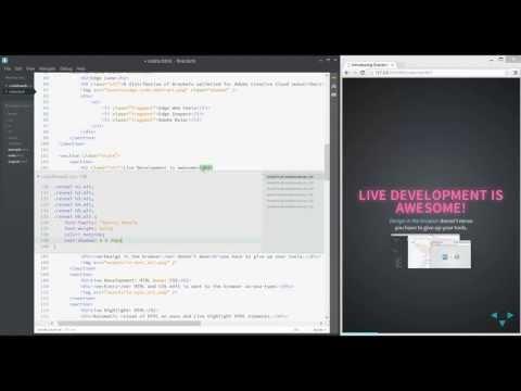 Brackets Live Development For HTML & CSS