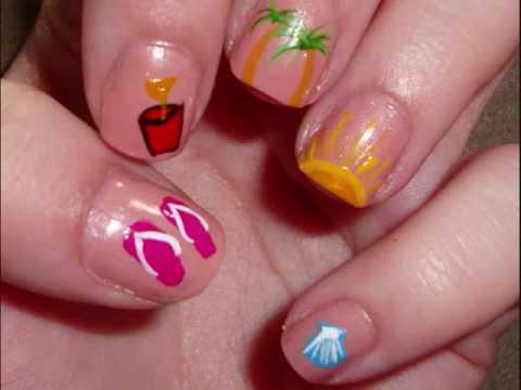5 Simple Summer Nail Art Designs - YouTube