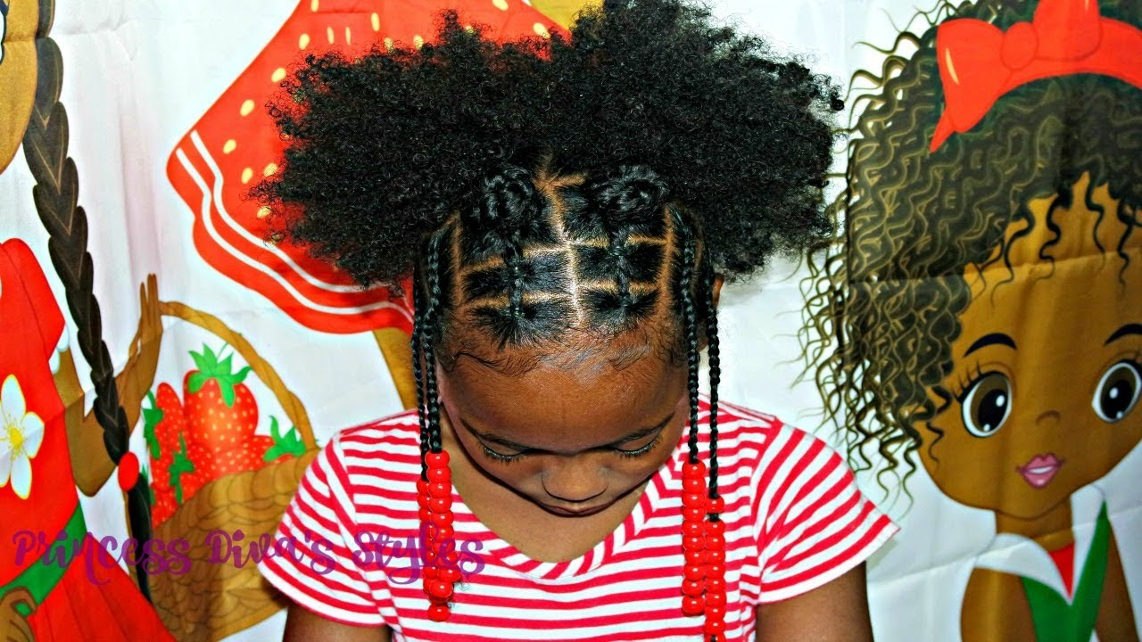 Simple After Wash Little Girls Hairstyle Children S Natural Hair
