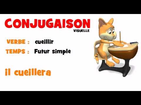 Conjugaison Cueillir Futur Simple Youtube
