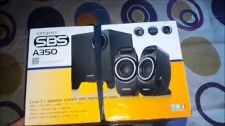 Creative SBS A350 Unboxing and Sound Test