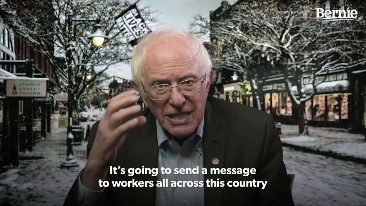 Sanders TAKES ON Amazon and Walmart
