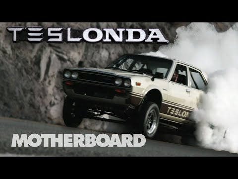 The Half Tesla, Half Honda, 100% Electric Hot Rod - The Teslonda