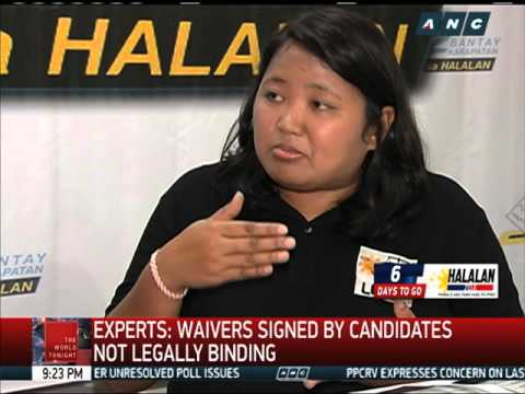 Experts: Waivers signed by candidates not legally binding