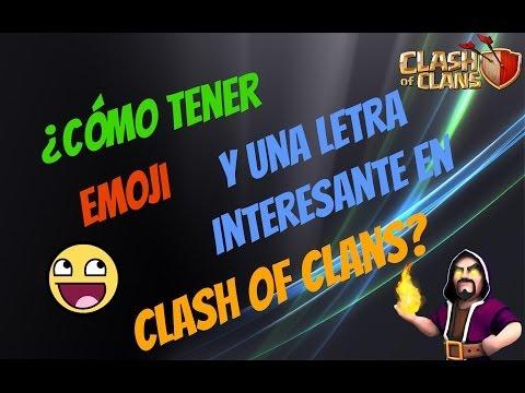 Poner emoji, emoticones y el teclado cherokee en Clash of Clans