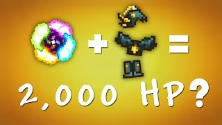 terraria mods 2 000 hp how to be invincible
