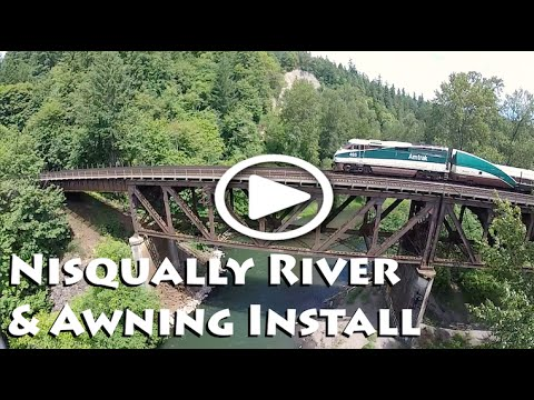 Train Trestles & NEW AWNING Install