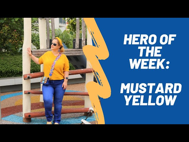 Mustard yellow - fashion with the GLAMADVENTURE