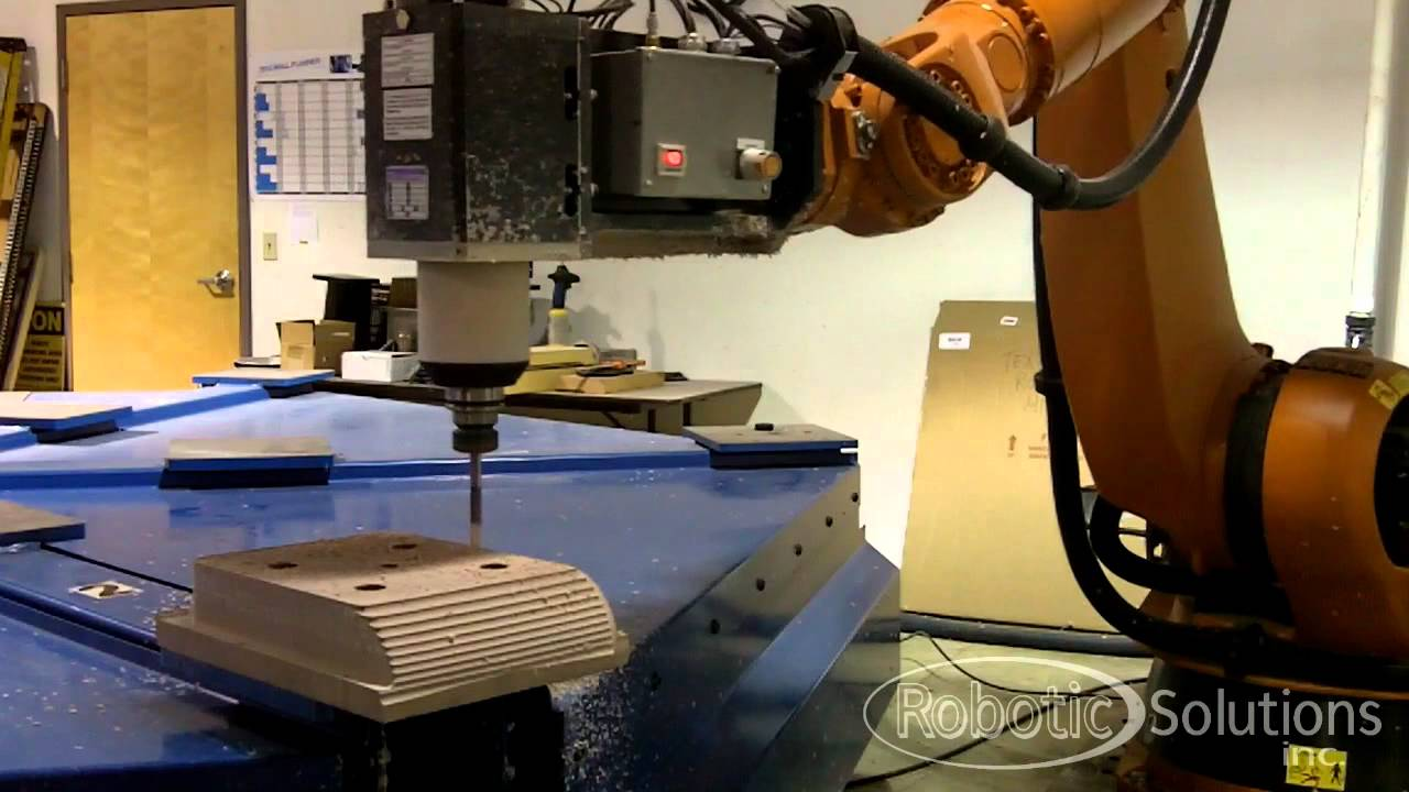 Robotic Solutions Kuka Cnc Milling Robot Youtube